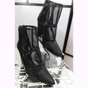 New Mesh Ankle Bootie Boots Black 8.5